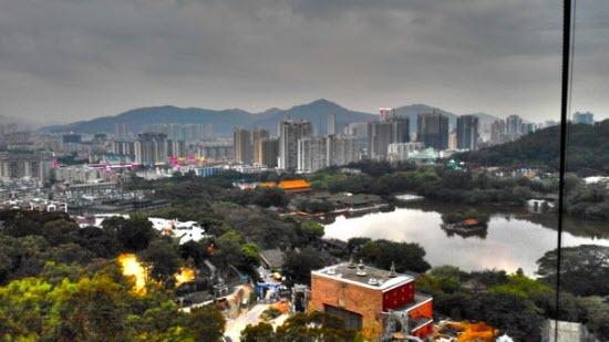 Вид на Макао и Чжухай