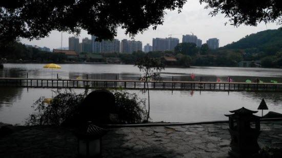Вид на город с парка