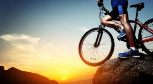 Велосепидист в горах