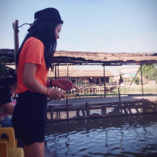 Венди рыбачит