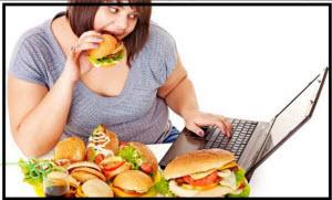 Толстушка есть фаст фуд за компьютером