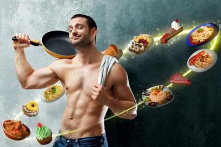 Мужчина со сковородкой