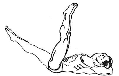 Подъем прямых ног