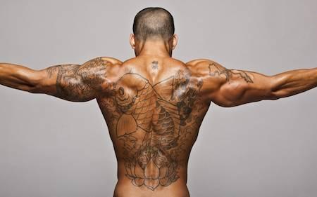 мощная мужская спина