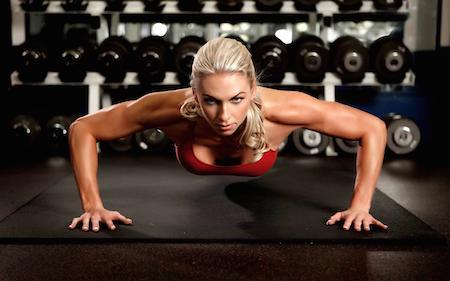 спорт отжимания девушка