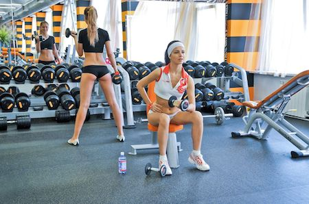 девушки на тренировке