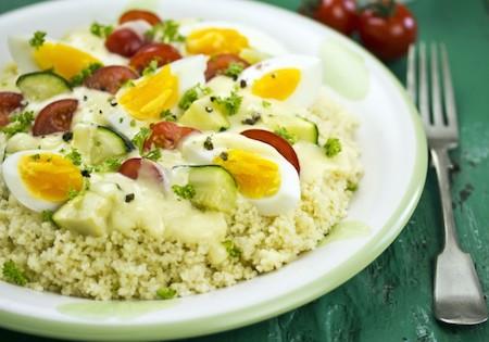 яйца и каша