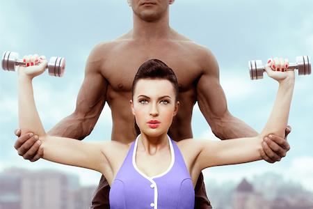 тренер и девушка